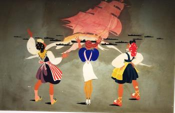 America in 1943, art for sale online by Helen Johnson