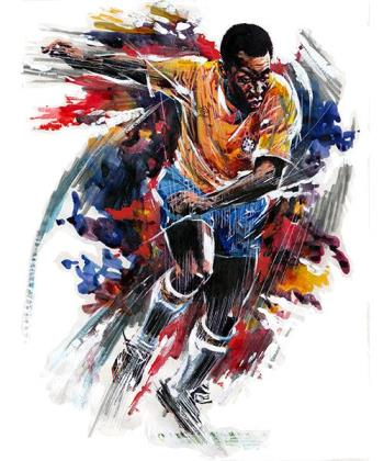 The Pele Explosion, art for sale online by Paul Trevillion