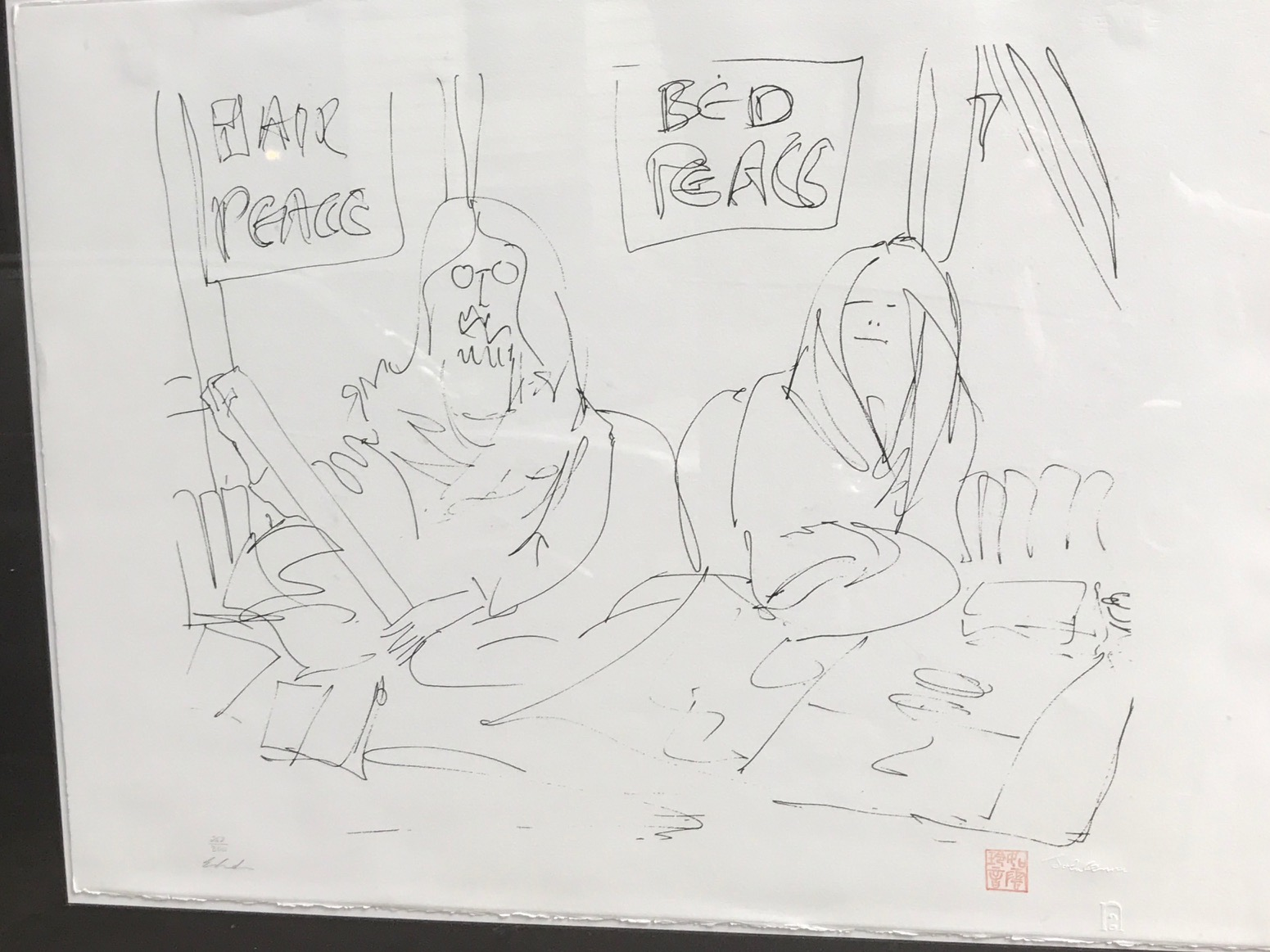 We Made Our Bed artwork by John Lennon - art listed for sale on Artplode