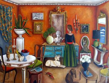 The Landlords Daughter , art for sale online by Catherine DeQuattro Nolin