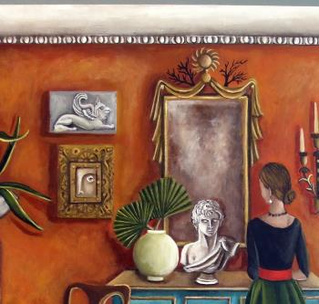 The Landlords Daughter  artwork by Catherine DeQuattro Nolin - art listed for sale on Artplode