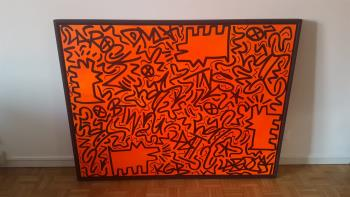 Untitled artwork by Keith Haring and LA2 - art listed for sale on Artplode