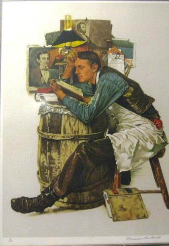 Law Student, art for sale online by Norman Rockwell
