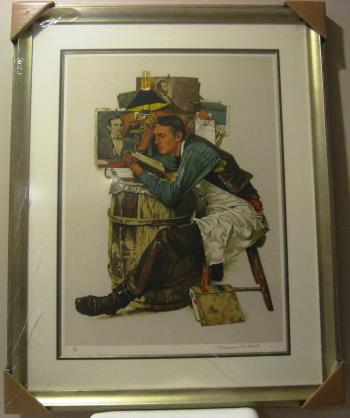 Law Student artwork by Norman Rockwell - art listed for sale on Artplode
