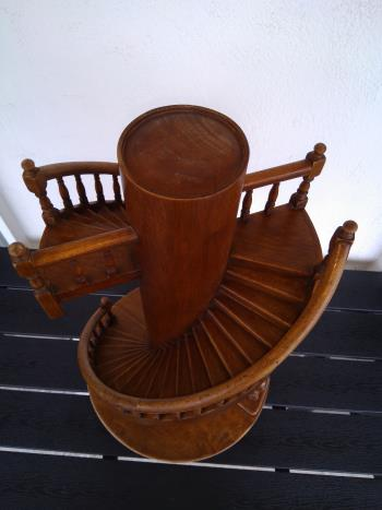 Pair of circular model staircases  artwork by unsigned - art listed for sale on Artplode
