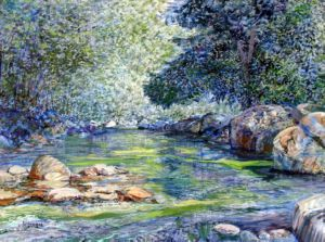 Capilano River, art for sale online by Stephen Dobson