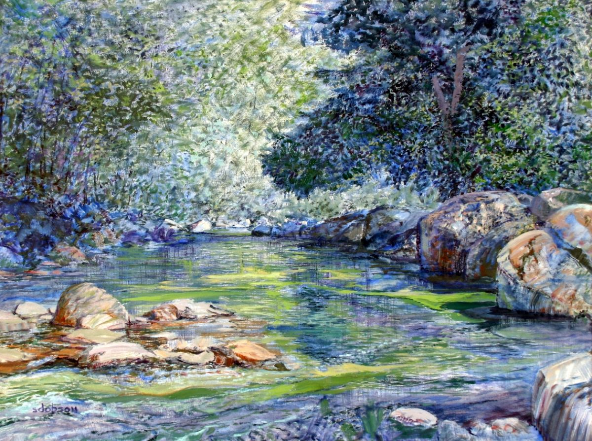 Capilano River artwork by Stephen Dobson - art listed for sale on Artplode
