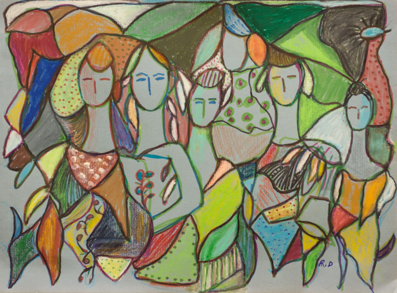 Bosque artwork by Rita David - art listed for sale on Artplode