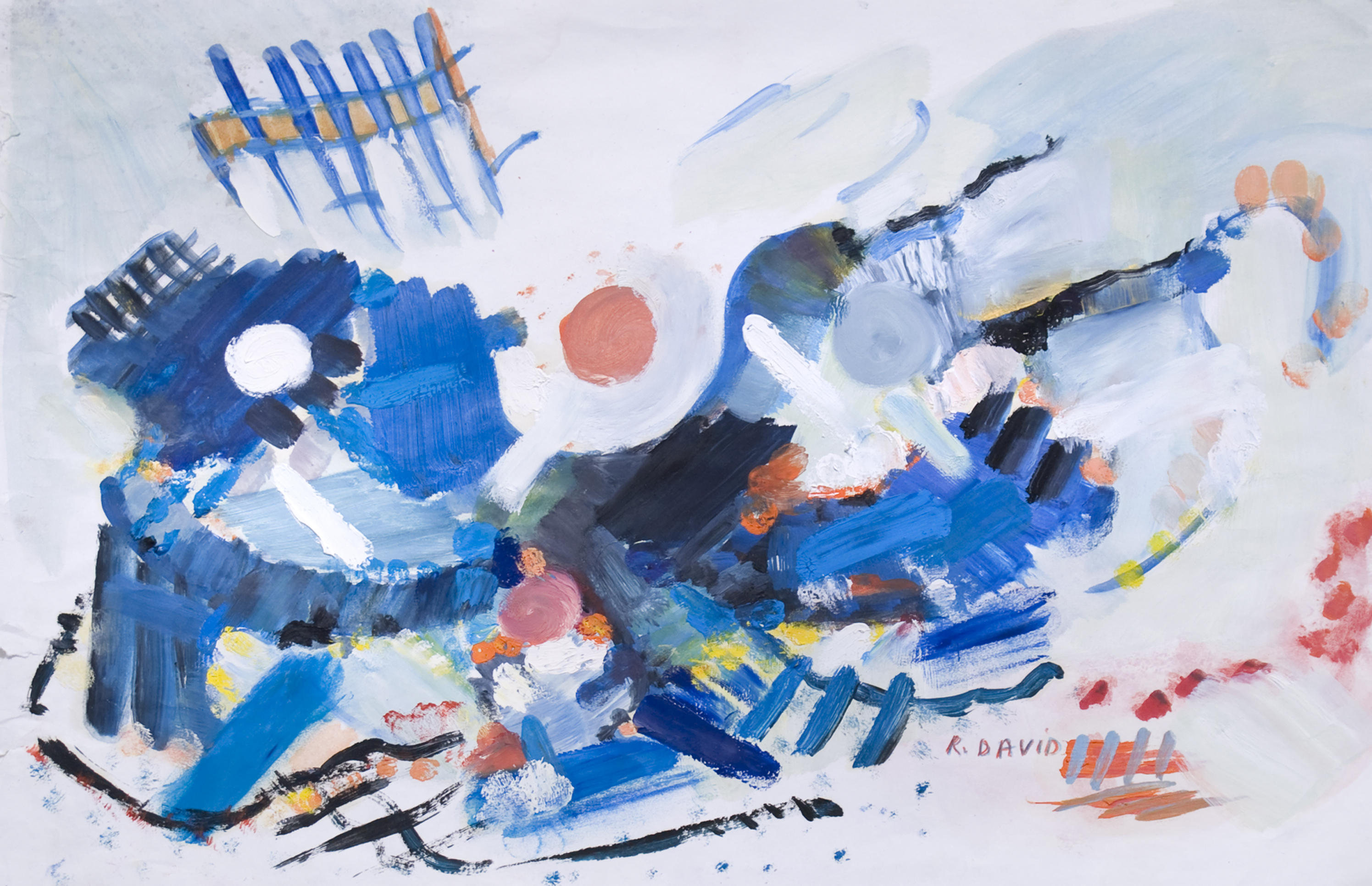 Sinphonie Bleue artwork by Rita David - art listed for sale on Artplode