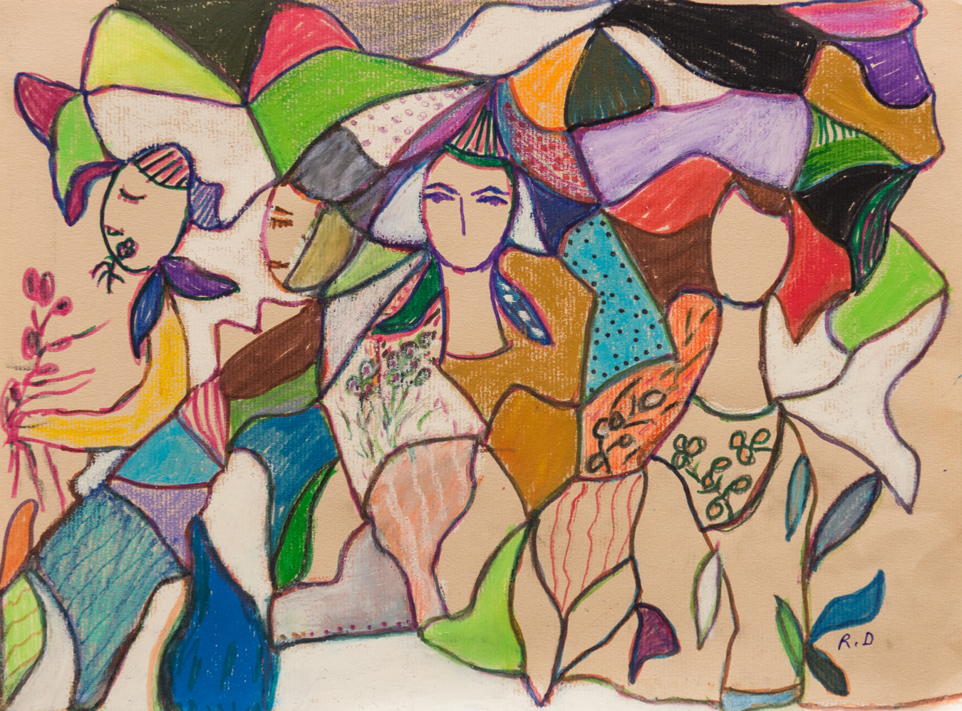 Carnaval artwork by Rita David - art listed for sale on Artplode