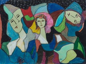 Carnaval 2, art for sale online by Rita David