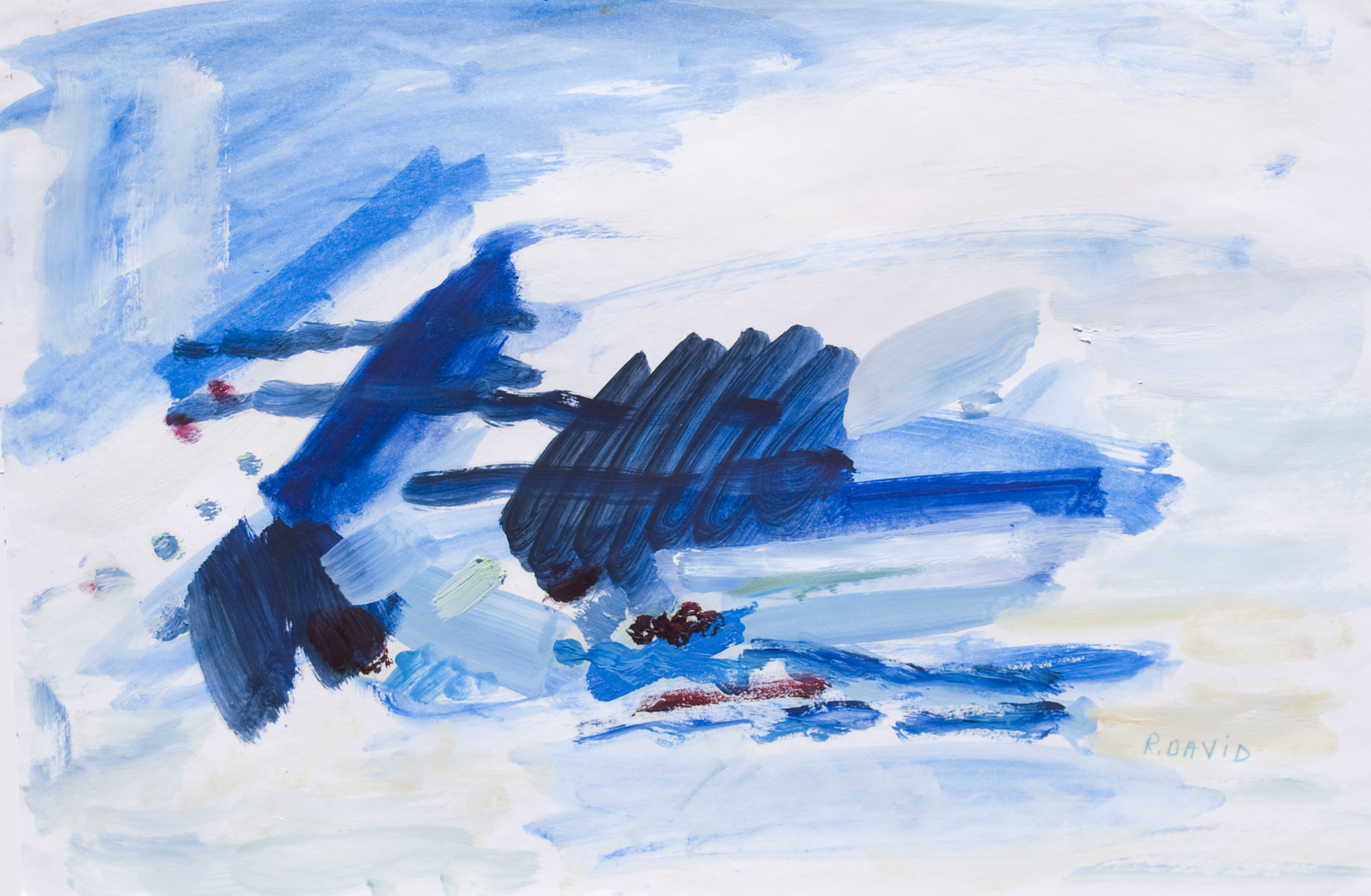 The Sea artwork by Rita David - art listed for sale on Artplode