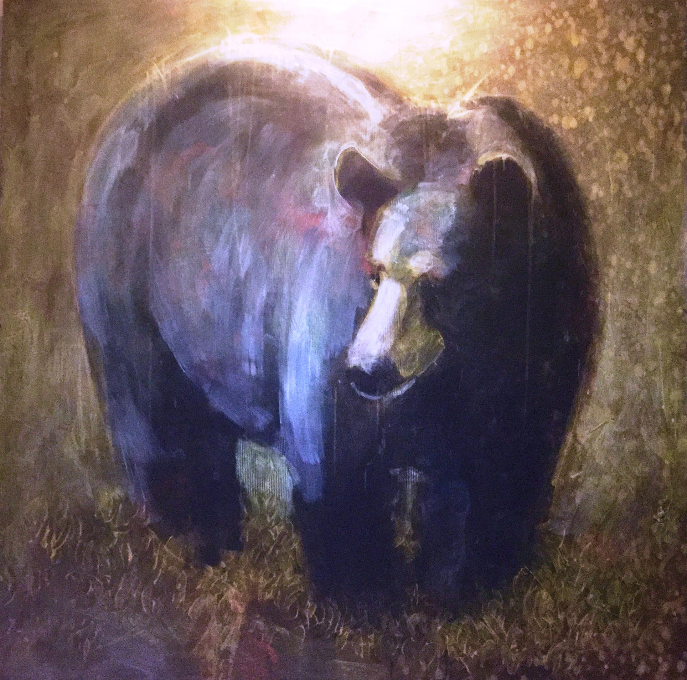 Black Bear artwork by Les Thomas - art listed for sale on Artplode