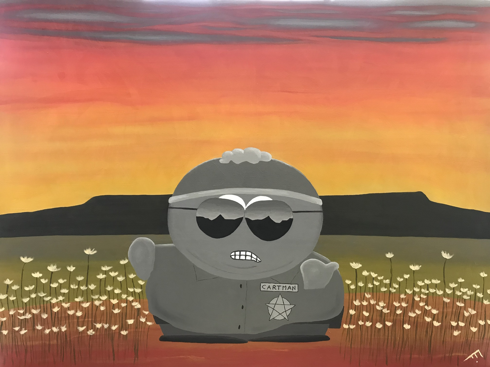 Officer Cartman artwork by Erika Leigh - art listed for sale on Artplode