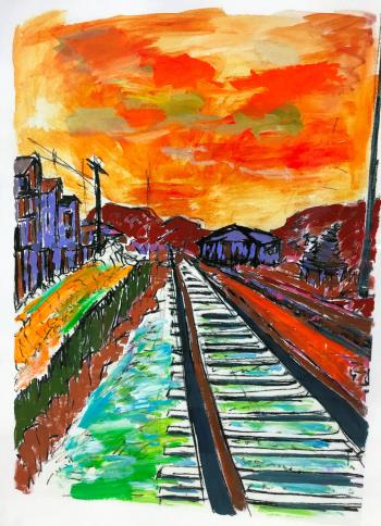 Side Tracks, art for sale online by Bob Dylan