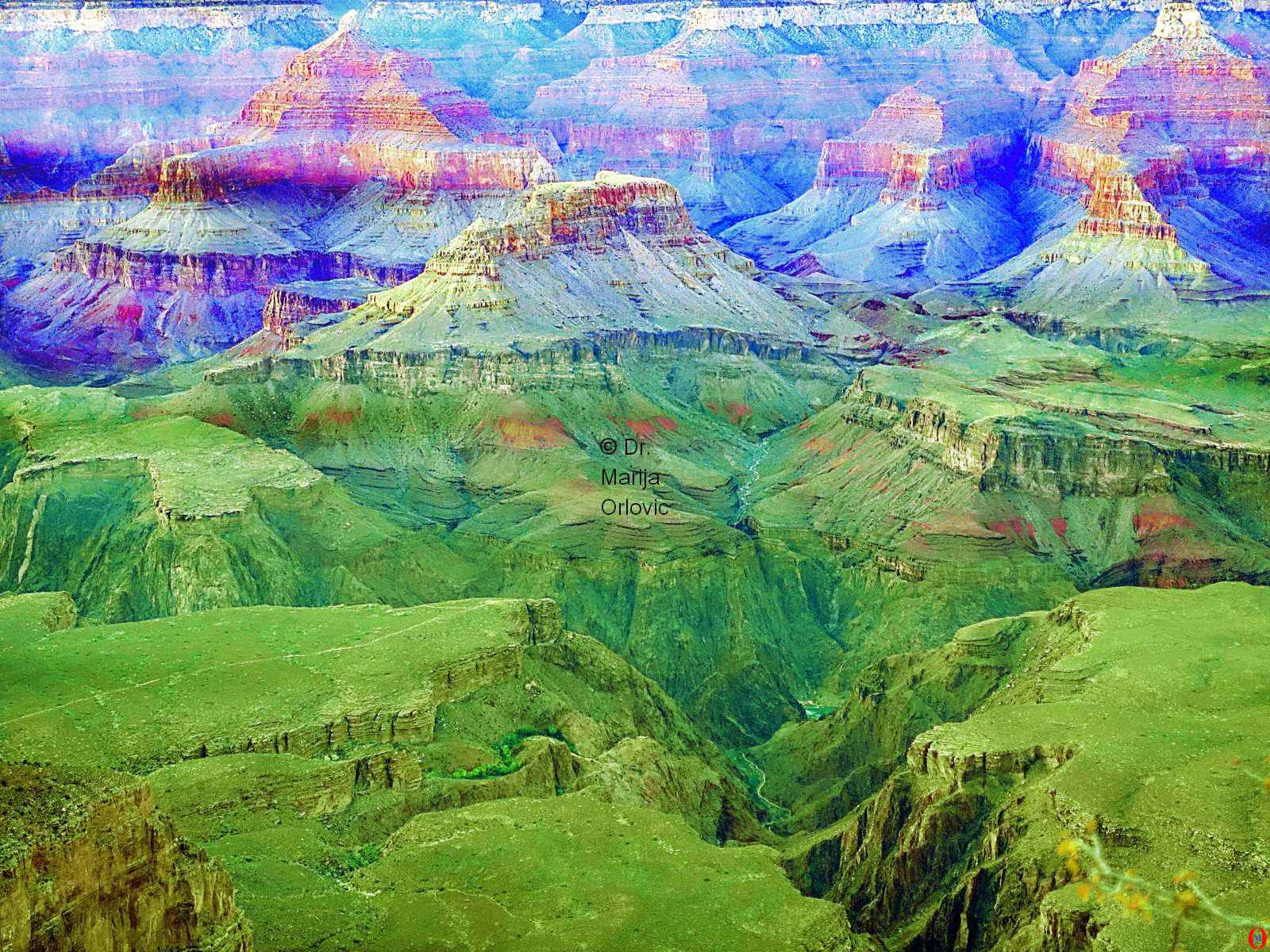 metamorphosys of grand canyon 01 artwork by Marija Orlovic - art listed for sale on Artplode