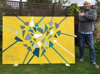 40 Fragments of a healing heart artwork by Rodney Holt - art listed for sale on Artplode