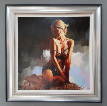 Study of a woman artwork by Charlotte Greene - art listed for sale on Artplode