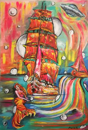 Real but Imagination Word, art for sale online by MARIA MARIA ROM