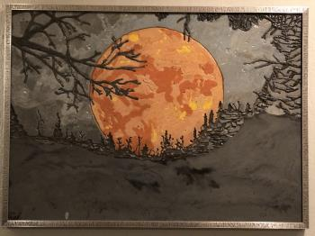 Harvest Moon Under Smokey Skies artwork by Christina Arnall