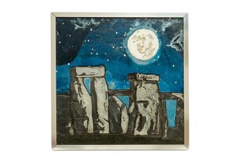 Stonehenge Under a Full Moon, art for sale online by Christina Arnall