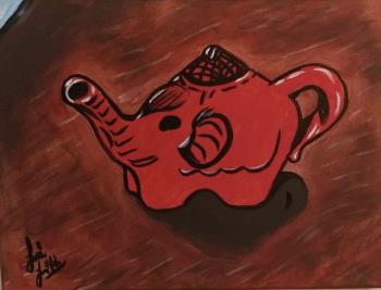 The Red kettle, art for sale online by Alexis Smith