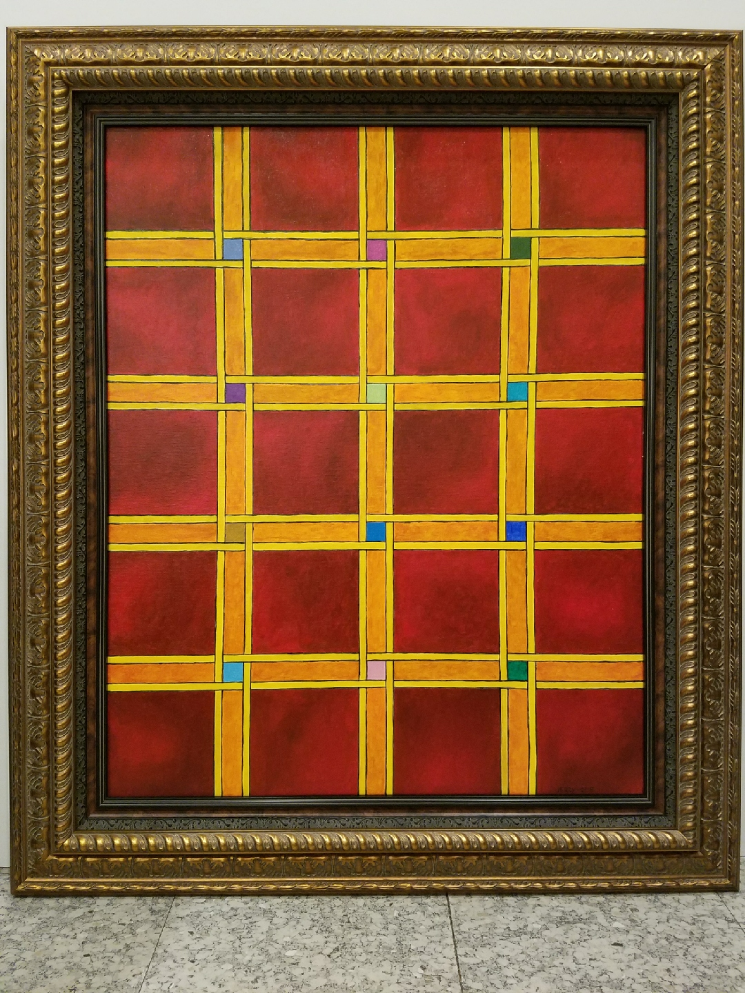 Impressions of Gingham artwork by Jerzy Almi Tufman - art listed for sale on Artplode