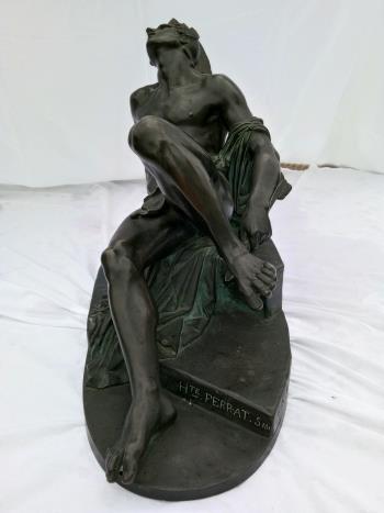 La mort d Achille artwork by Hippolyte Ferrat