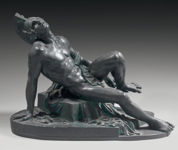 La mort d Achille artwork by Hippolyte Ferrat - art listed for sale on Artplode