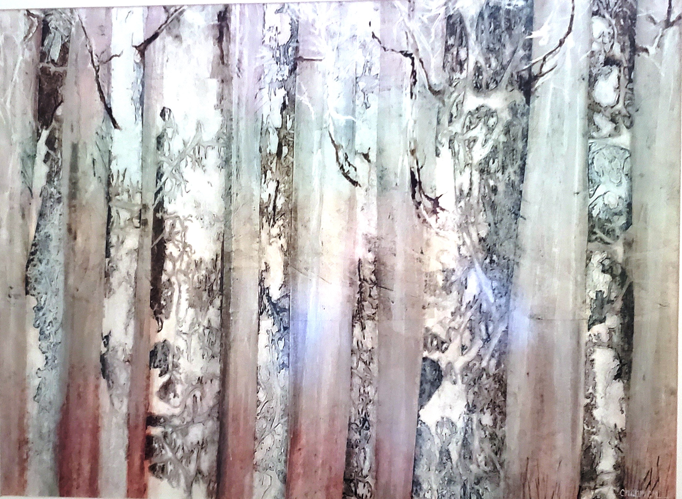 Winter Birches artwork by Kenneth CHAPMAN - art listed for sale on Artplode