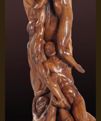 Men bodies in a dance artwork by Andreas Tzanoudakis