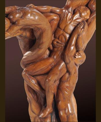 Men bodies in a dance artwork by Andreas Tzanoudakis - art listed for sale on Artplode