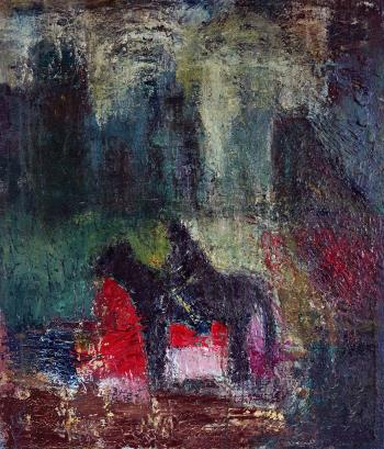 Horseman, art for sale online by Tehmina Harutyunyan