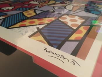 DOING LUNCH artwork by Romero Britto - art listed for sale on Artplode