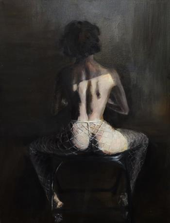 Her back, art for sale online by ruocong ma