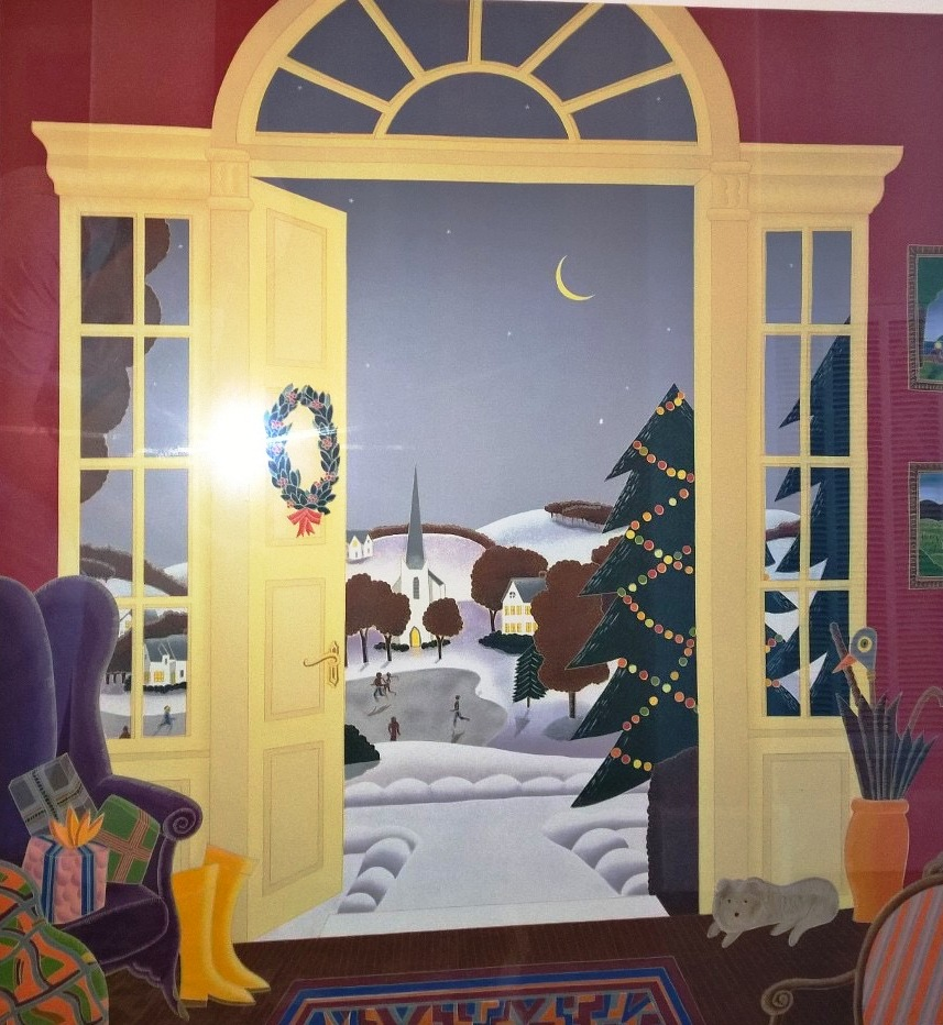 Christmas Eve artwork by Thomas McKnight - art listed for sale on Artplode