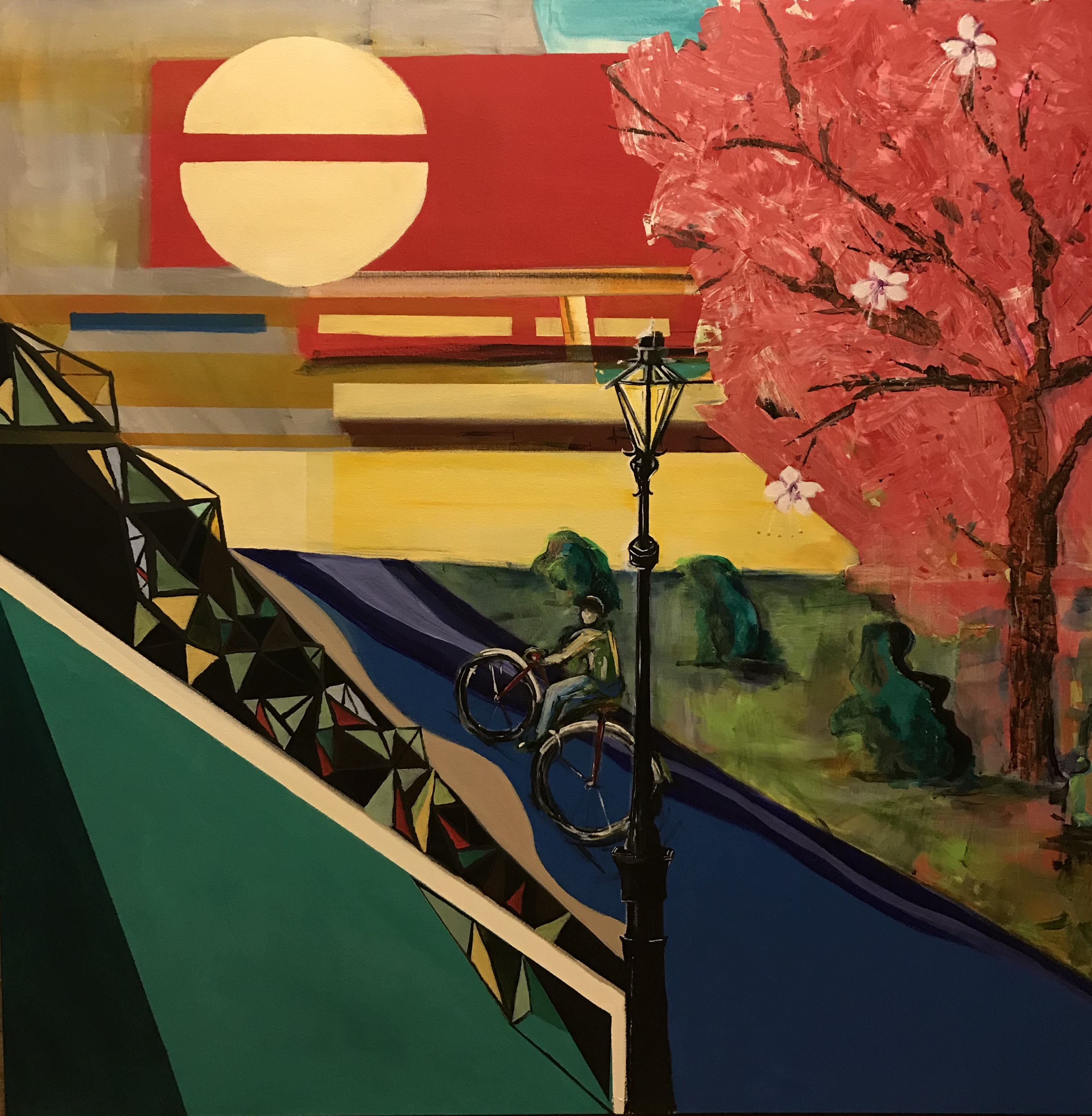 The Commute artwork by Kristin Wigness - art listed for sale on Artplode