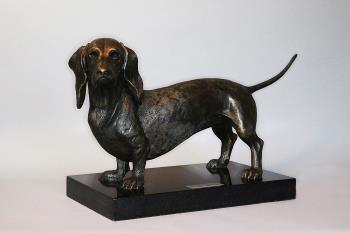 Life Size Dachshund artwork by Todd Lane - art listed for sale on Artplode