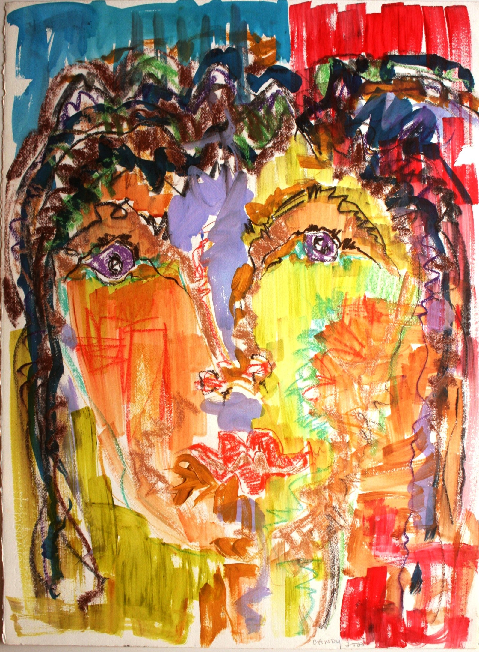 Faces artwork by Candy Wertchafter - art listed for sale on Artplode