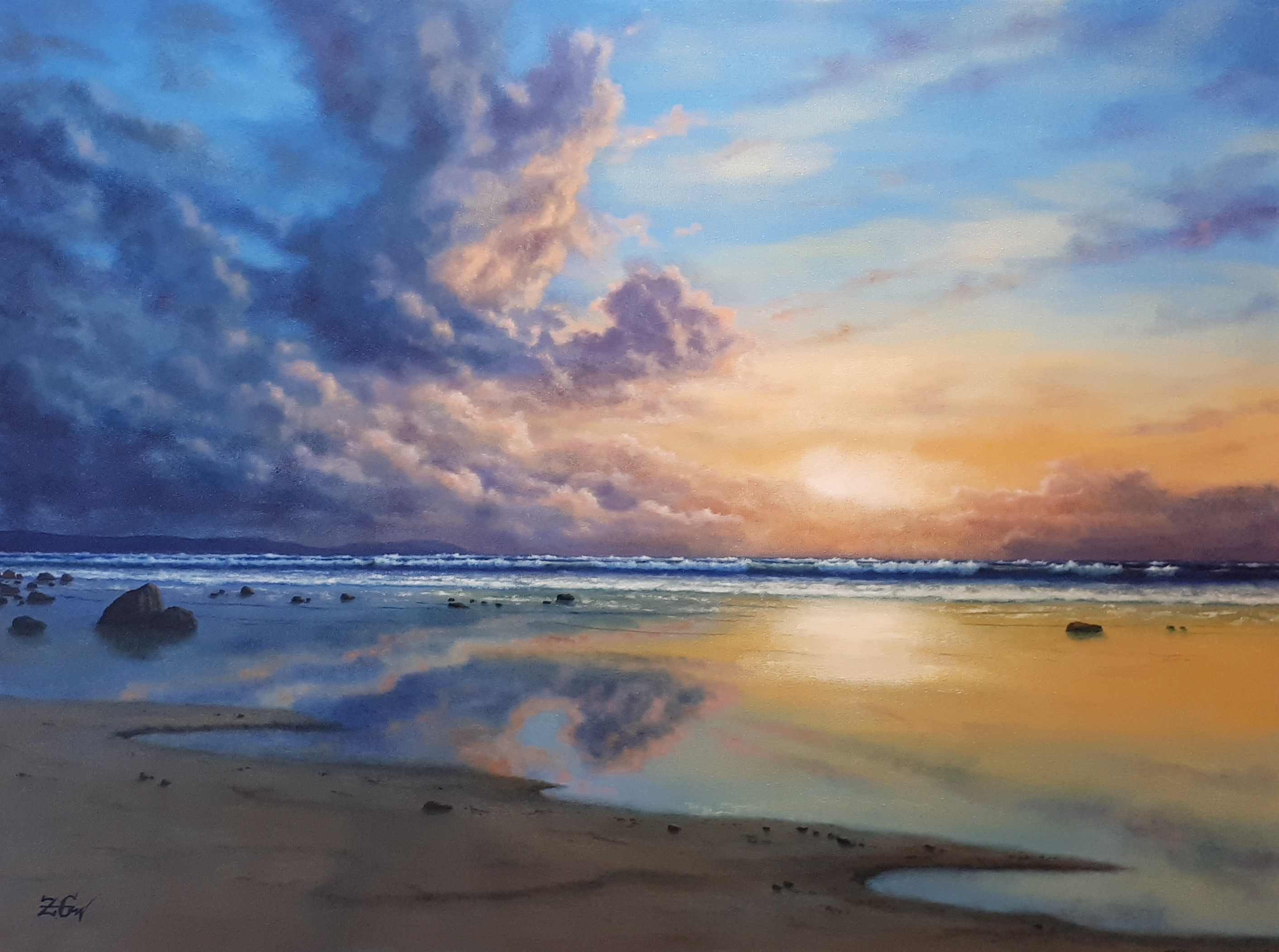 Evening mood with clouds artwork by Zigmars Grundmanis - art listed for sale on Artplode