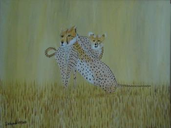 Cheetahs, art for sale online by Teresa Deborah Ryle
