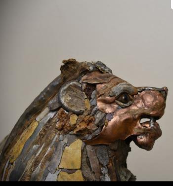 The Dream Keeper Lion artwork by Boris Sarikov - art listed for sale on Artplode