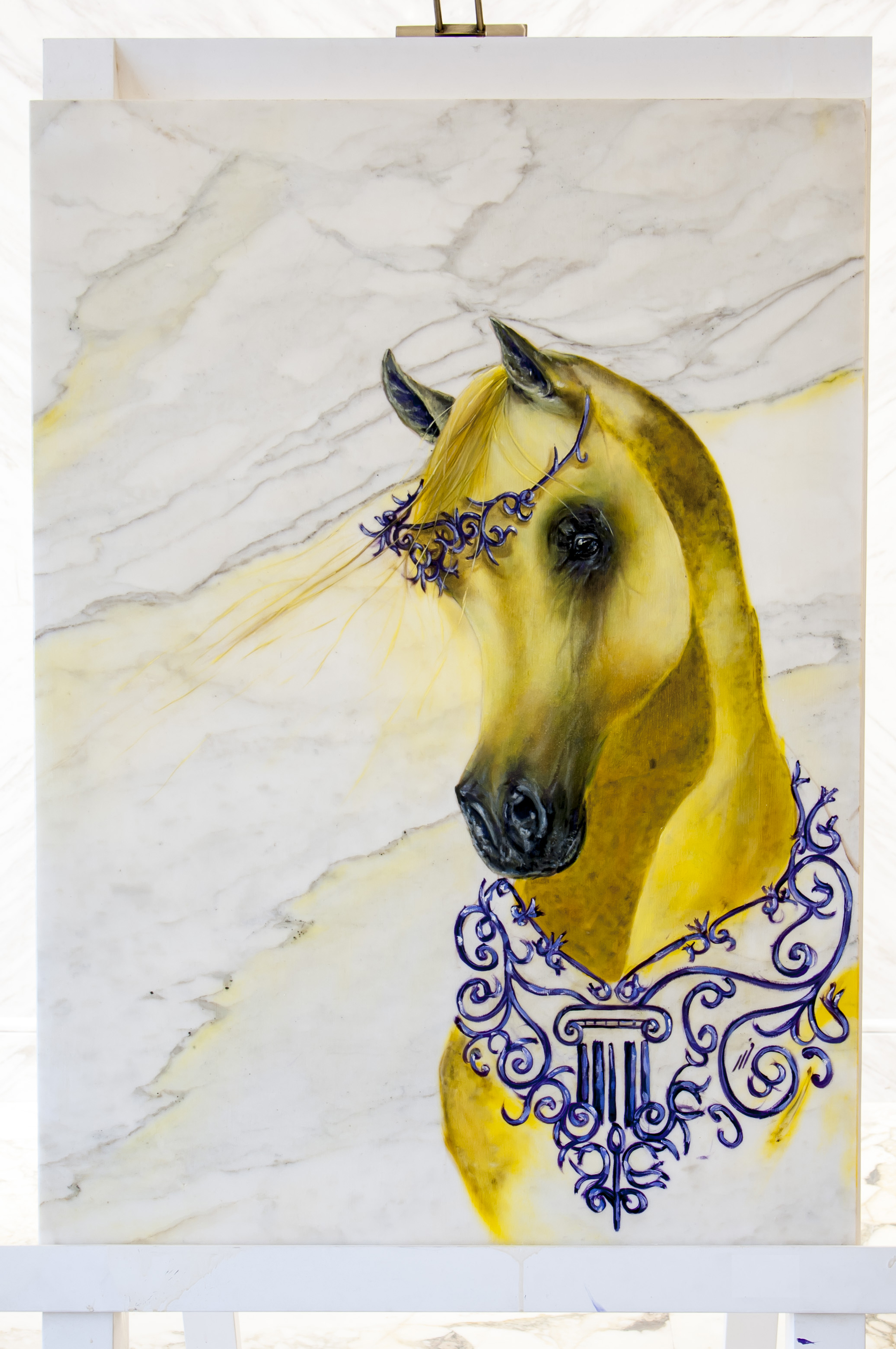 Horse artwork by  Fahad Al Maadheed - art listed for sale on Artplode