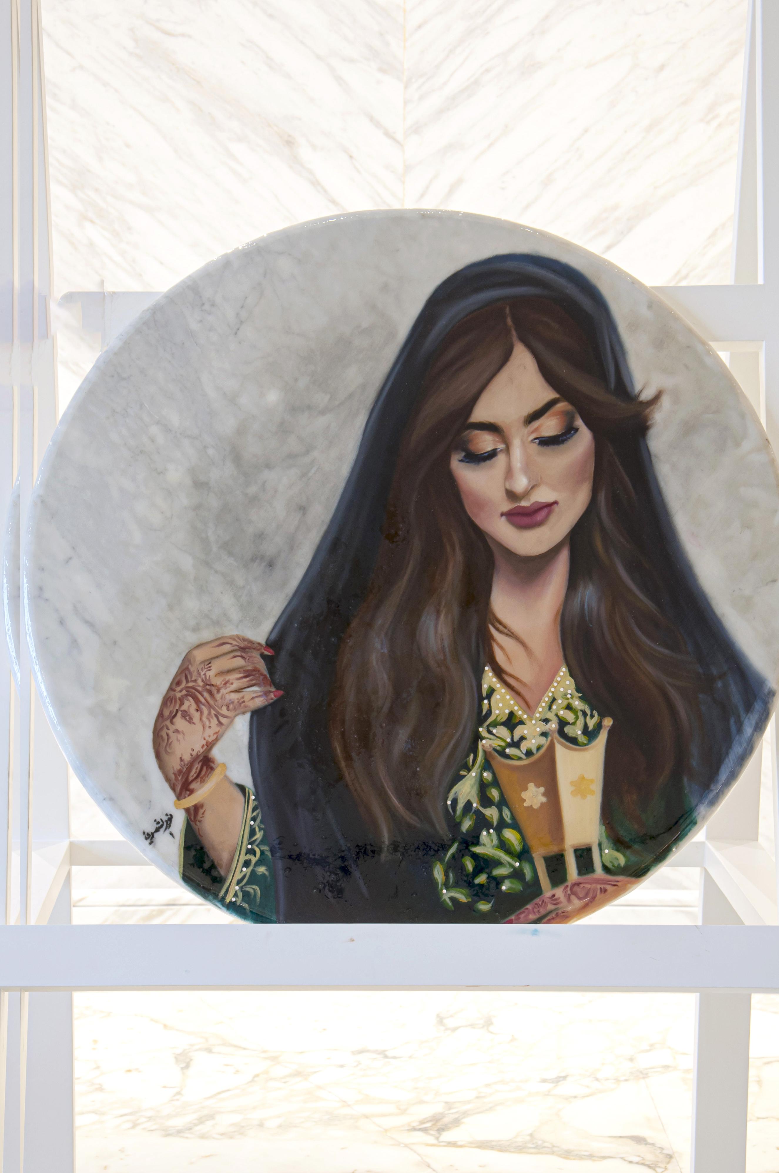 Untitled artwork by Noor Al Shammri - art listed for sale on Artplode