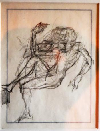 Study of Couple Seated, art for sale online by Salvador Dali