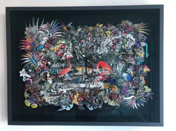 Columbian Svartur Forest artwork by Kristjana S Williams