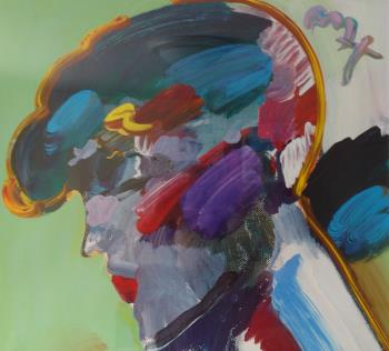 Palm Beach Lady artwork by Peter Max