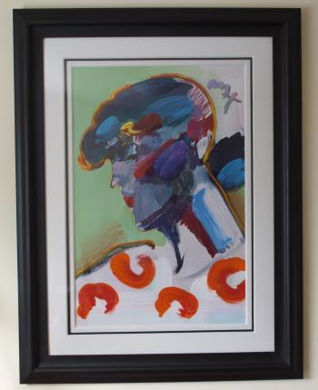 Palm Beach Lady artwork by Peter Max - art listed for sale on Artplode