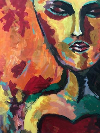 Faces artwork by Nahla Al Marzooqi