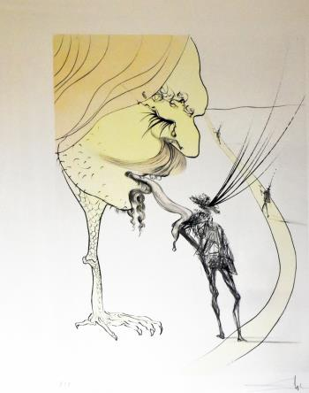 Picasso – un billet pour la gloire, art for sale online by Salvador Dali